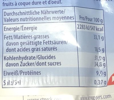 Knoppers Multipack 8+2 Gratis - Informations nutritionnelles