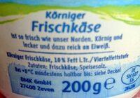 Körniger Frischkäse - Ingredienti - de