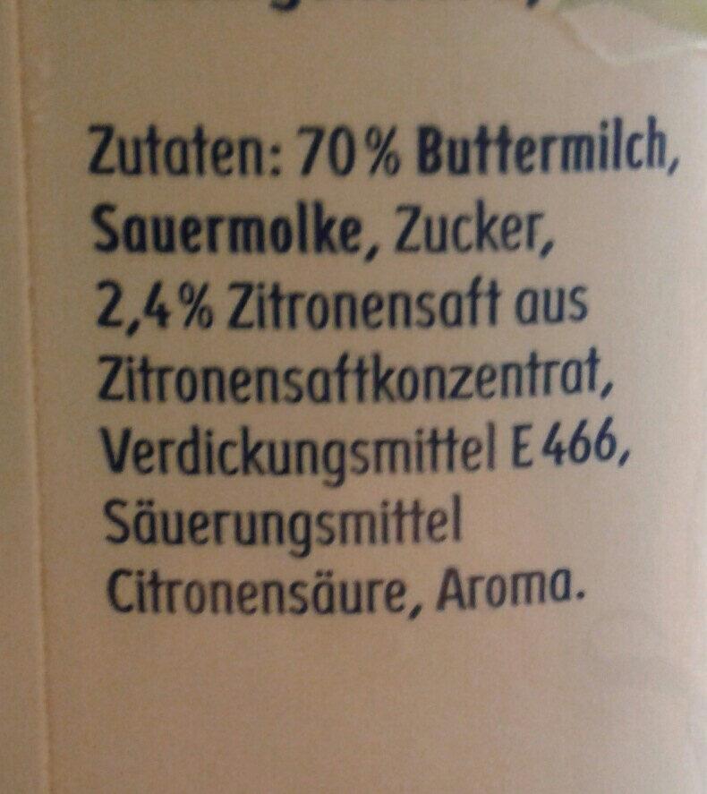 Buttermilch Zitrone - Ingrédients - de