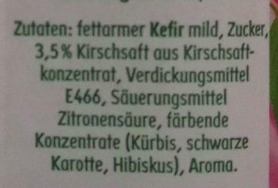 Kefir Drink Kirsche - Ingredients - de