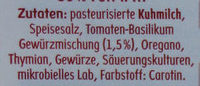 Tomate Basilikum Käse - 50 % Fett i. Tr. - Ingrédients - de