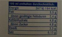 H Vollmilch 3,5 - Nährwertangaben - de