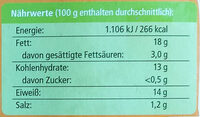Bio-Hähnchen Kinder-Dinos - Informations nutritionnelles - de