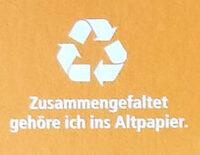 Bio-Hähnchen Kinder-Dinos - Instruction de recyclage et/ou information d'emballage - de