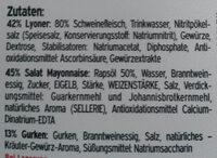 Fleischsalat - Ingrédients - de