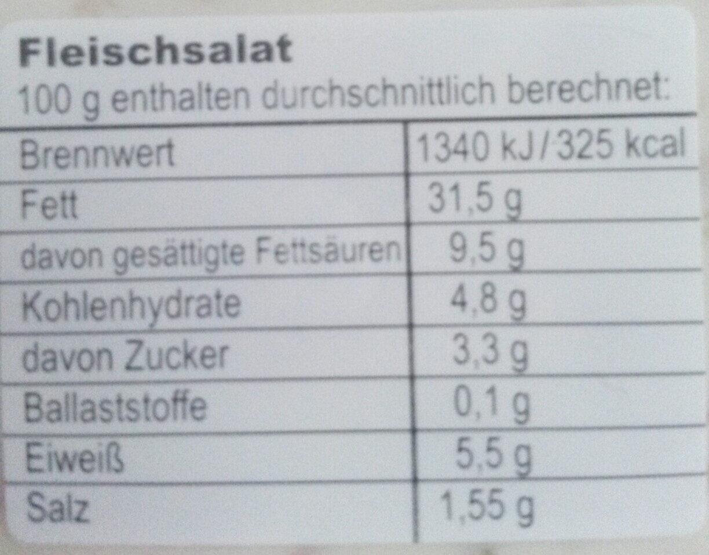 Fleischsalat - Informations nutritionnelles - de