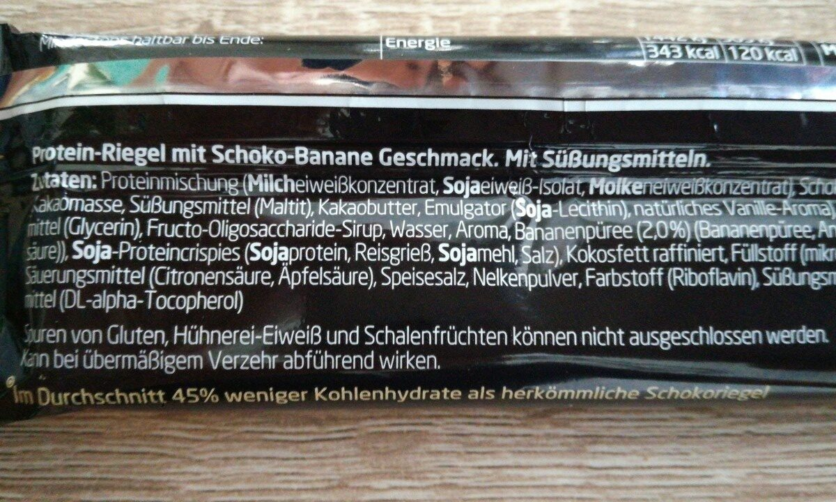 Protein Riegel Schoko-banane - Ingrédients - fr