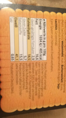 Layenberger, lowcrab protain keks-müsli - Nutrition facts