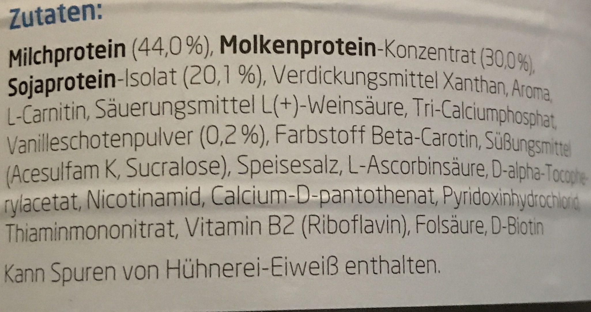 Layenberger 3K Protein Shakw Vanille - Ingredients - en