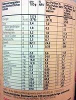3K Protein Shake Stracciatella - Informazioni nutrizionali - de