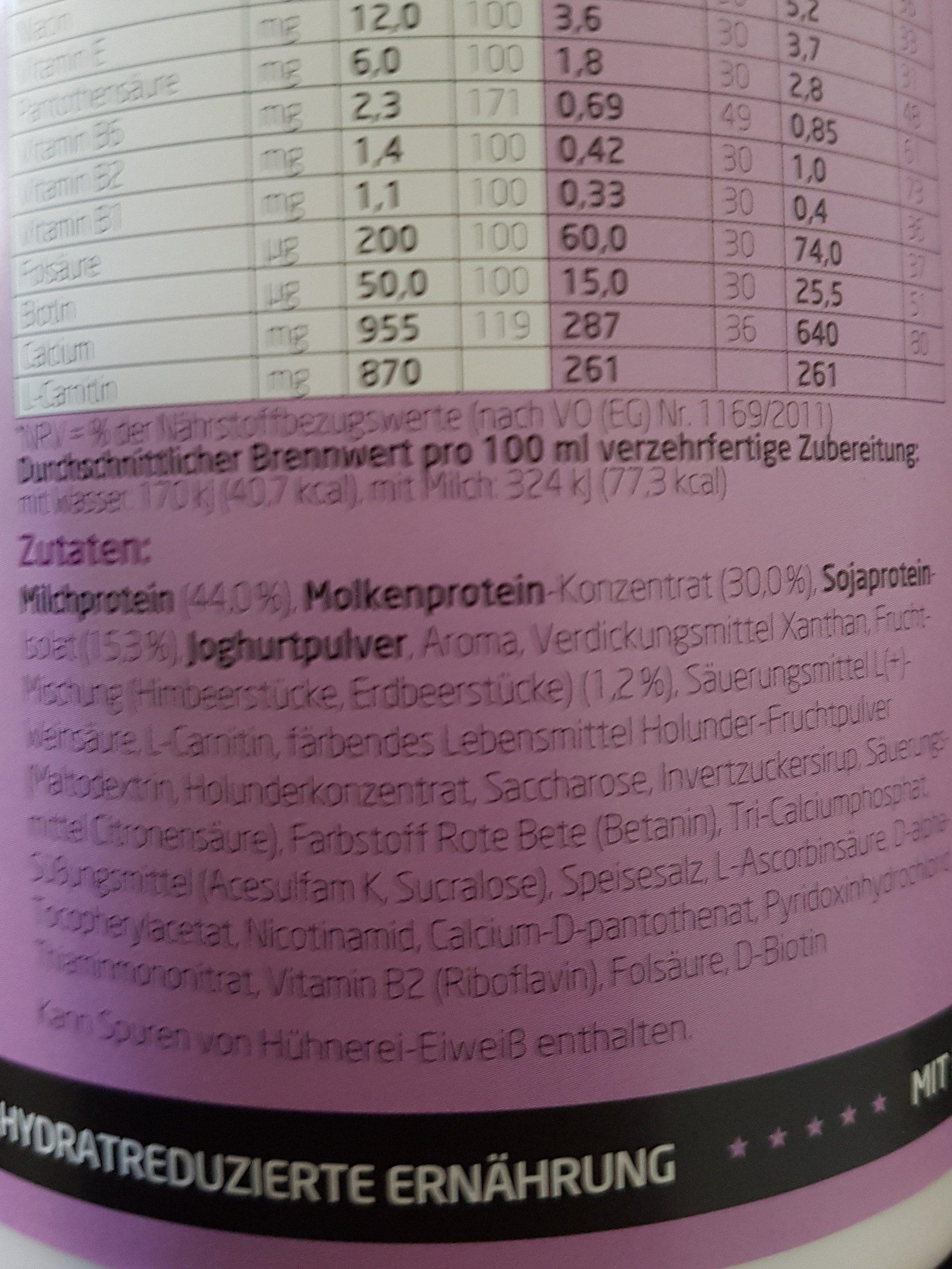 Lowcarb - Ingrédients