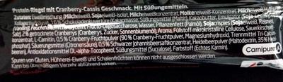 Protein Riegel Cranberries-Cassis - Ingredients - de