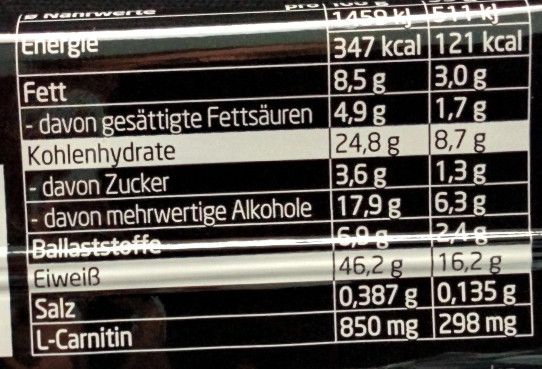 Protein Riegel Cranberries-Cassis - Nutrition facts - de