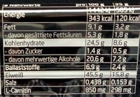 Protein Riegel Schoko-Banane - Nutrition facts - de