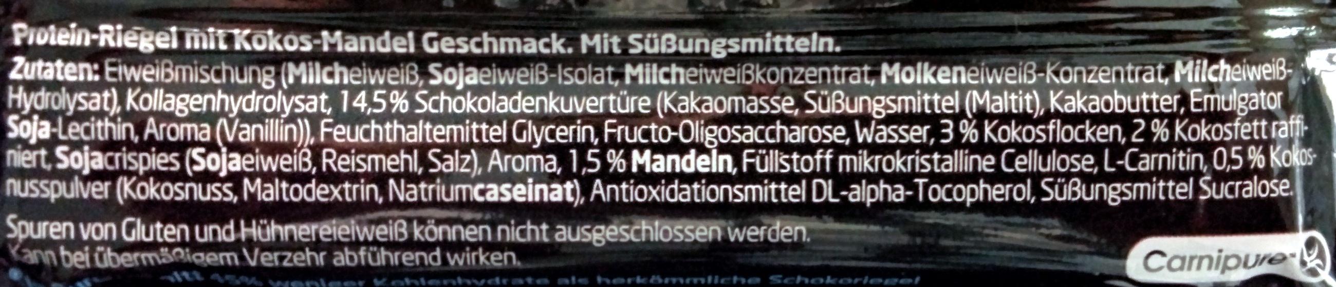 Protein Riegel Kokos-Mandel - Ingredients - de