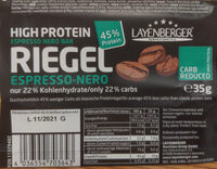 Layenberger Lowcarb. one Protein Riegel Espresso nero - Product - de