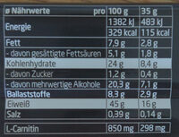 Layenberger Lowcarb. one Protein Riegel Espresso nero - Nutrition facts - en