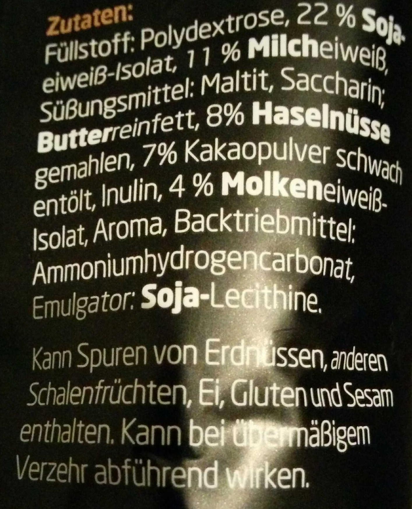 Protein Cookix Kakao-Nuss - Ingredients - de
