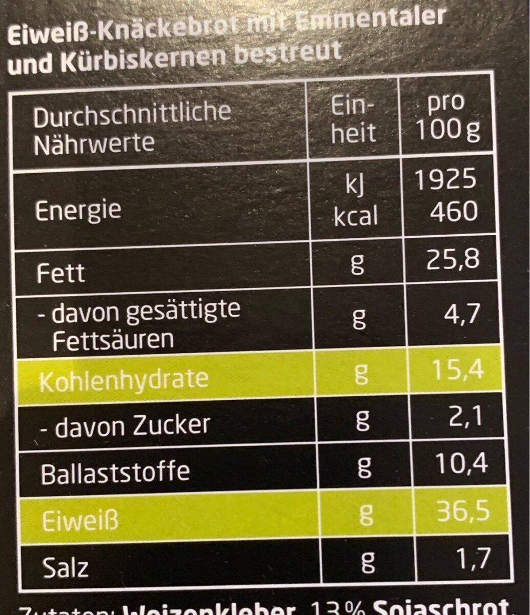 High Protein Knäcke - Nutrition facts - en