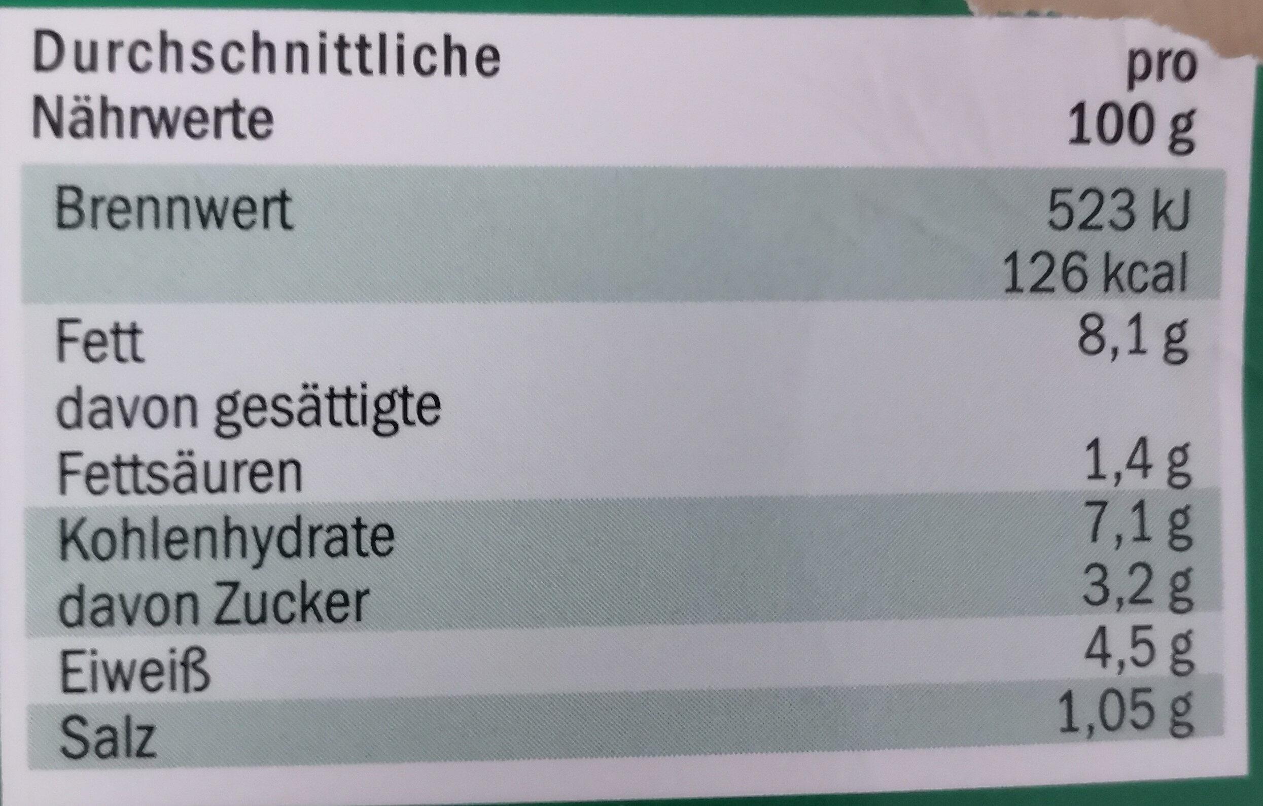 Thurländer Tomate-Mozzarella Salat - Informations nutritionnelles - de