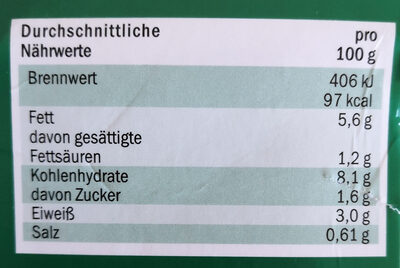 Thurländer Gyros-Weißkraut Salat - Nutrition facts
