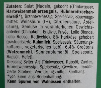 Thurländer Hartkäse-Couton Salat - Ingrédients - de