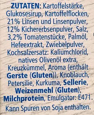 Heisse Tasse Kichererbse & Linse - Ingrédients - de