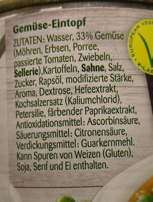 Vegetarischer Gemüse-Eintopf - Ingrédients - de