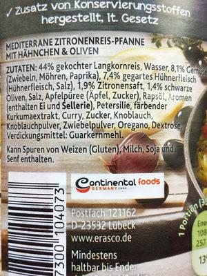 Zitronenreis-Pfanne - Ingrédients - de