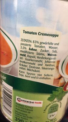 Tomaten Cremesuppe - Ingrédients