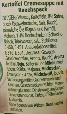 Kartoffel Cremesuppe - Ingredients