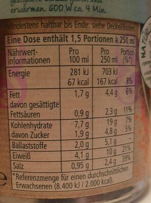 Rote Linsensuppe - Voedingswaarden - de