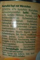 Kartoffel Topf - Ingredienti - de