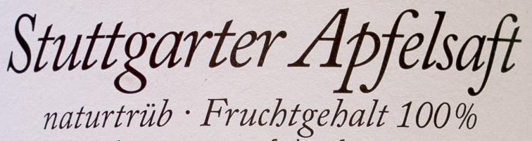 Stuttgarter Apfelsaft - Ingrediënten