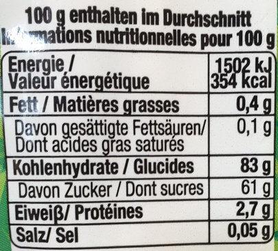 Sour Power : Bâtons aux goût de Fraise - Informazioni nutrizionali - fr