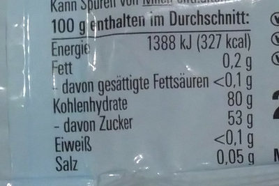 Katjes Grün-ohr Bärchen - Nutrition facts