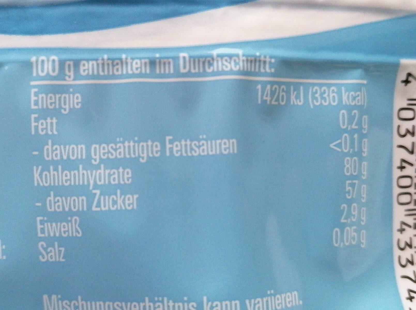 Milchkater - Valori nutrizionali - de