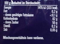 Drakritze - Informations nutritionnelles