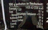 Lakritz Batzen - Nährwertangaben - de