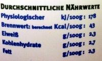 Ayran - Informations nutritionnelles - de