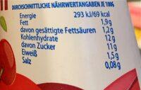 Kirsch ayran - Nährwertangaben - de