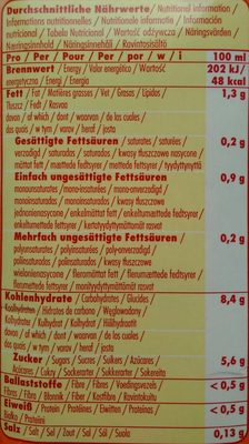 Hafer natural - Informations nutritionnelles