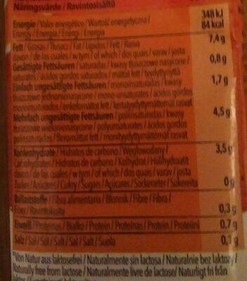 Hafer cuisine - Nutrition facts - de