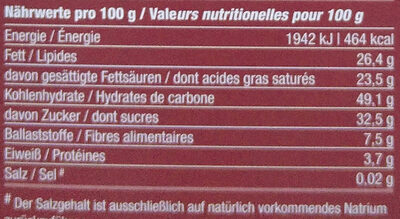 Maroni - Nutrition facts