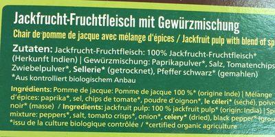 Jack´s Fruchtfleisch Schnetzel, 218 G - Ingrediënten