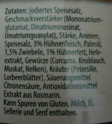 Hühner Kraftbouillon - Ingrédients