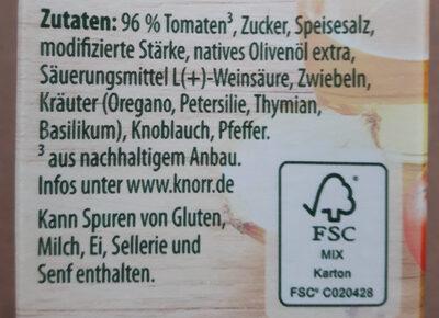 Sauce Tomate Kräuter - Ingrédients - de