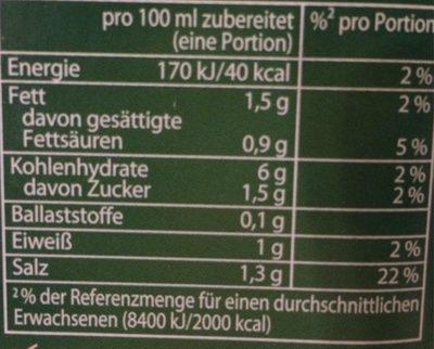 Braten Soße Extra - Voedingswaarden