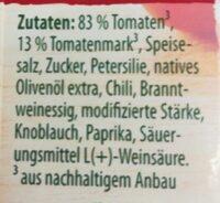 All'Arrabbiata - Ingredients - de