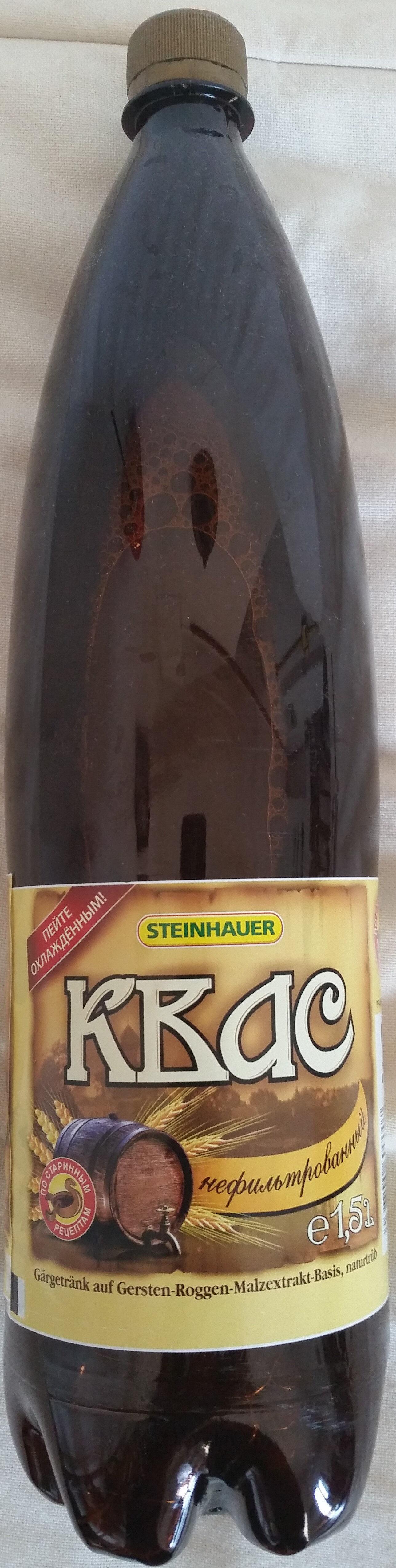 Квас – Gärgetränk auf Gersten-Roggen-Malzextrakt-Basis, naturtrüb - Product